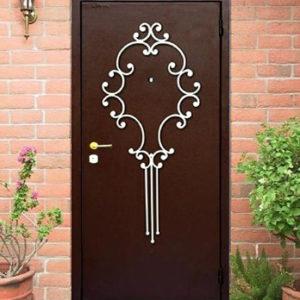 Кованые двери Металлическая кованая дверь Арт. Д-008 Norkovka