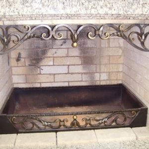 Кованые камины Латунный кованый экран для камина Арт. КА-008 Norkovka