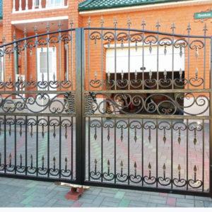 Кованые ворота Распашные кованые ворота Блэнч Арт. В-008 Norkovka