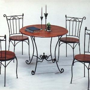 Кованая мебель Кованая мебель с деревом Арт. М-014 Norkovka