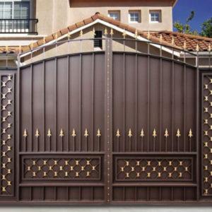 Кованые ворота Кованые ворота с пиками Хантер Арт. В-012 Norkovka