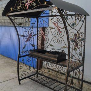 Кованые мангалы Кованый мангал с крышей Арт. МА-011 Norkovka