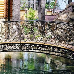 Кованые мосты Декоративный кованый мост Арт. МО-009 Norkovka