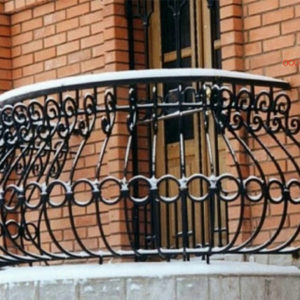 Кованые балконы Кованый балкон с перилами Арт. Б-012 Norkovka