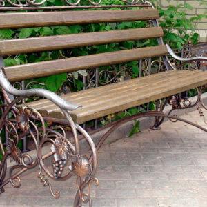 Кованые скамейки Кованая скамейка с виноградом Арт. СК-004 Norkovka